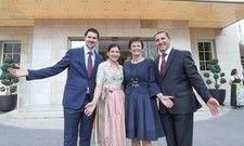 Feierten die Einweihung des Imlauer Hotel Pitter: (von links) Die Hotelier-Familie mit Sohn Thomas, Tochter Lisa, Ingrid und Georg Imlauer
