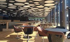 Geräumig: 450 Gäste finden im Neubau des Betriebsrestaurants Platz.