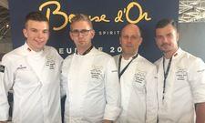 Das Team Germany: (von links) Ernst Hawighorst, Marvin Böhm, Patrik Jaros, President Germany, und Coach Ludwig Heer