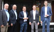 Die Gründungsmitglieder: (von links) Karl Anton Schütte, Stefan Schneider, Andreas Deimann, Leander Diedrich und Stefan Wiese-Gerlach