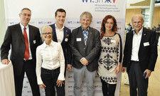 Die Referenten: (von links): Holger Kuball, Corinna Kretschmar-Joehnk, Caspar Kraushaar, Peter Nistelberger, Kirsten Herrmann und Frank Behrens.