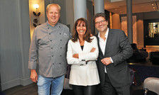 Tortue-Trio: (von links) Carsten von der Heide, Anne-Marie Bauer und Marc Ciunis