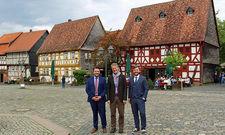 Bereit für das Jahr 2019: (von links) Howa-Geschäftsführer Mario-Sebastian Fertig, Museumsleiter Jens Scheller und Howa-Geschäftsführer Stephan Thomas Krause
