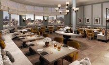 Erste Renderings: Blick ins Restaurant des Ameron Neuschwanstein Alpsee Resort & Spa