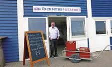 Geht gastronomisch voran: Detlev Rickmers in einem seiner Helgoländer Lokale.