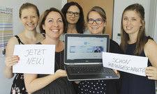Das Jobsterne-Team: (von links) Tina Lenz (Marketing), Birgit Finke (Leiterin AHGZ Rubrikenmarkt Print und Online), Birgit Kersting (Anzeigen), Dorothea Wunderle (Projektmanagement Digital) und Alisa Braun (Anzeigen).