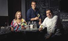 Die Gastgeber Anna Koller und Philipp Heine: Sie haben Marcello Fabbri als Küchenchef gewinnen können