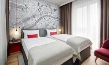 Zimmer für die Mainmetropole: Blick in das künftige Intercity Hotel Frankfurt Hauptbahnhof Süd