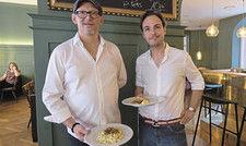 Sie tragen Österreich im Herzen: Marcel Jetter (links) und Sebastian Gaiser.