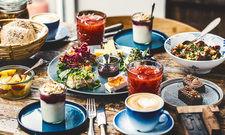 Über die App Bio-Lokale finden: Das Restaurant Langhoff og Juul in Aarhus in Dänemark. Dort gibt's Frühstück aus ökologischen Zutaten