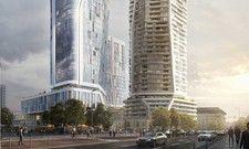 Neues Hochhausquartier: Das Hyatt House wird in das rechte Haus einziehen