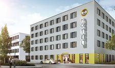 So soll es aussehen: Das B&B Hotel an der Düsseldorfer Straße in Neuss (Rendering)