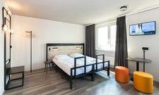 Funktional: Die Zimmer im A&O Frankfurt Ostend
