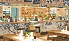 Gibt es inzwischen an 108 Standorten in 17 Ländern: Das Take- away- und Lieferservice-Angebot von Vapiano