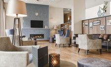 Alles neu: Die Lobby im Hotel am Vitalpark gibt sich wohnlich-loungig.