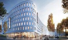 Großprojekt: So soll das Holiday Inn Express in Düsseldorf künftig aussehen (Rendering)