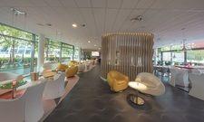 Typisch Prizeotel: Blick in die Lobby des Bremer Hauses