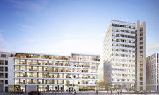 Denkmalgeschützt: Der frühere Commerzbank-Büroturm in Düsseldorf (rechts). Hier soll das Ruby Lola entstehen