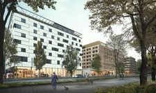 So soll's aussehen: Das künftige Hotel und Hostel Superbude in Wien