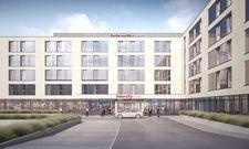 So soll's aussehen: Das künftige Intercity Hotel Zürich Airport (Rendering)