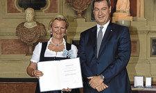 Zufriedene Gesichter: Bayerns DEHOGA-Präsidentin Angela Inselkammer und Bayerns Ministerpräsident Markus Söder (CSU), hier auf einer Veranstaltung.