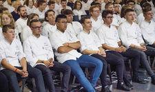 Gespannte Aufmerksamkeit: 220 Nachwuchsköche aus Deutschland, Österreich, der Schweiz, Luxemburg und Südtirol kamen zu Young Chefs Unplugged.