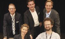 Next-Generation-Talk: (von oben links im Uhrzeigersinn) Mathias Schotten, Timo Patte, Florian Hebenstreit, Jonas Mömken und Moderatorin Barbara Becker.