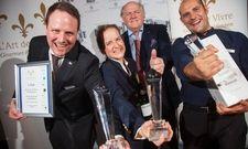 Begeisterung pur: Die Sieger von 2017 mit L'Art-de-Vivre-Präsident Hans Stefan Steinheuer