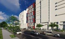 So soll's aussehen: EIn Rendering des geplanten Meininger Hotels in Washington D.C.