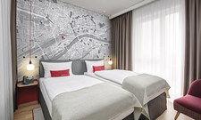 Urban: Der Stadtplan hinterm Bett in einem der 414 Zimmer.