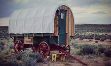 Einfache Unterkunft: Ein Schäferwagen in Arizona/USA