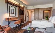 Bereits fertig renoviert: Die Zimmer im Radisson Blu Hotel in Frankfurt/M.