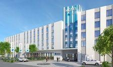 So soll's aussehen: Eine Visualisierung des geplanten Hotels im GVZ Region Augsburg