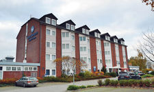 Vorgefertigtes Gebäude: Das Hotel Prisma wurde in nur wenigen Monaten gebaut.