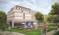 Eröffnung 2021: So soll das künftige Dorint Hotel in Bad Vilbel aussehen.