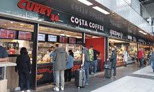 Auf einen Happen: Der neue Foodcourt bietet Reisenden und Geschäftsleuten viele Auswahlmöglichkeiten