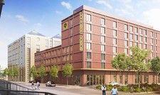 Präsentiert sich in Ziegeloptik: Das Gambino Hotel Werksviertel soll 2020 öffnen