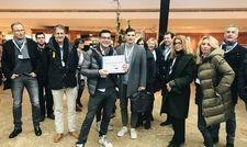 Glückliche Teilnehmer: Rund 80 Gäste besuchten die Trendtouren durch Berlin