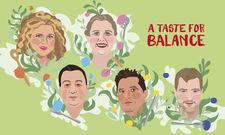 Köpfe des Kulinarischen Kinos: (von links) Haya Molcho, Angela Hartnett, The Duc Ngo, Kiko Moya, Sebastian Frank