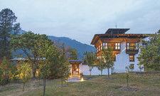 Liegt auf 1400 Höhenmetern: Das Luxushotel Amankora in Bhutan