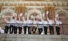 Kochmützen im Stuttgarter Neuen Schloss: Die deutschen Köche-Nationalmannschaften freuen sich schon auf die IKA/Olympiade der Köche in einem Jahr.