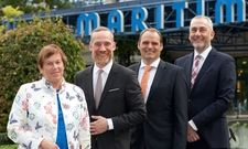 Gute aufgestellt: Maritim-Inhaberin und Aufsichtsratsvorsitzende Dr. Monika Gommolla mit den Geschäftsführern (von links) Roland Elter, Erik van Kessel und Hendrik Förster