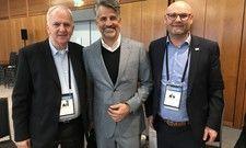 Wohin geht die Reise in Deutschland? Darüber sprachen: (von links) Willy Weiland, Otto Lindner, Wolfgang Gattringer