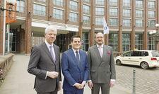 Packen die Modernisierung an: (von links) Thomas Willms, Martin Schaller und Moritz Klein.