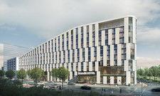 Rund 500 neue Zimmer: Das künftige Scandic-Hotel im Hafenquartier