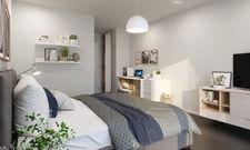 So soll's aussehen: Ein Musterzimmer für die künftigen Serviced Apartments im Münchner Stadtteil Berg am Laim