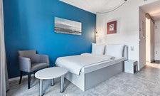 Ein Doppelzimmer: Das H.ome Serviced Apartments München von H-Hotels.com verfügt über 105 Zimmer