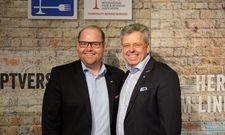 Wechsel an der Spitze: (von links) ehemaliger Präsident Udo Finkenwirth mit Nachfolger Oliver Fudickar