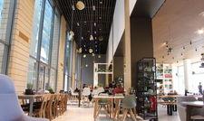 Licht durchflutet: Das Weilands Wellfood in Berlin verfügt über hohe Fensterfronten