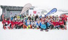 Die 2019er-Teilnehmer im Schnee